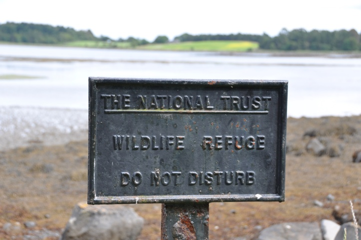 Reagh Island Wildlife sign