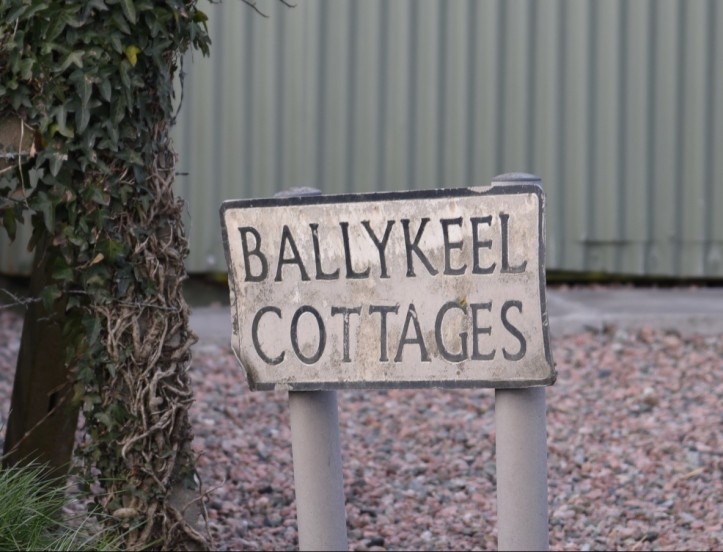 Ballykeel Cottages sign