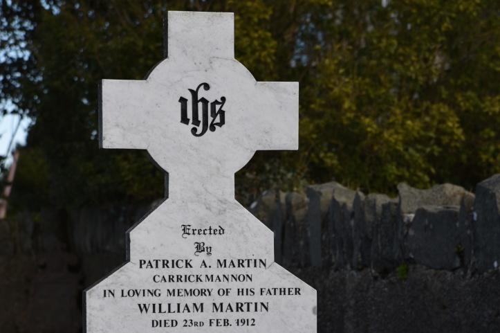 Carrickmannon grave for Martin 1912