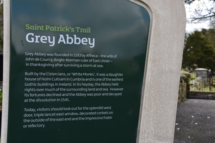 Greyabbey abbey sign