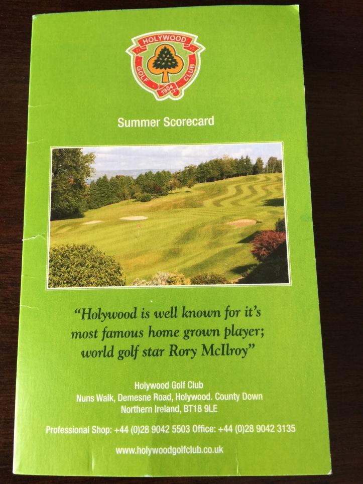 Holywood Golf Club scorecard