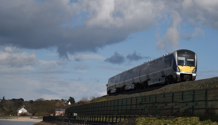 Train leaving Holywood