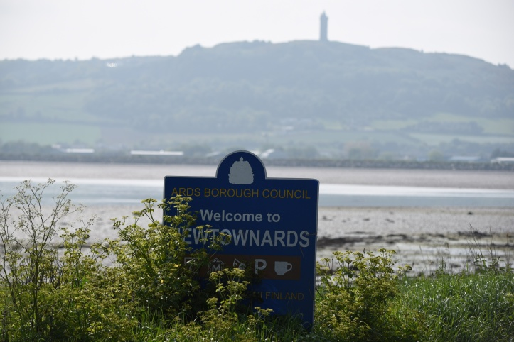 Gregstown Ards sign and Scrabo