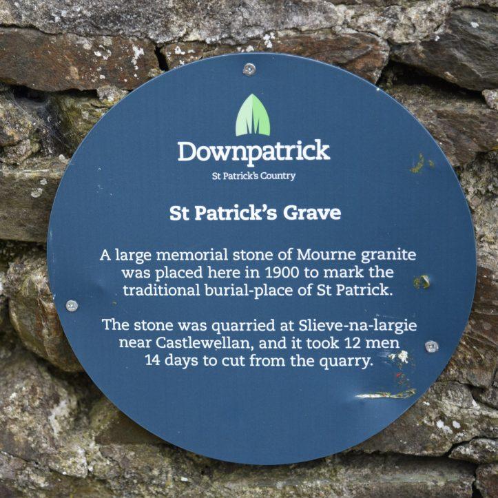 St Patrick's grave sign