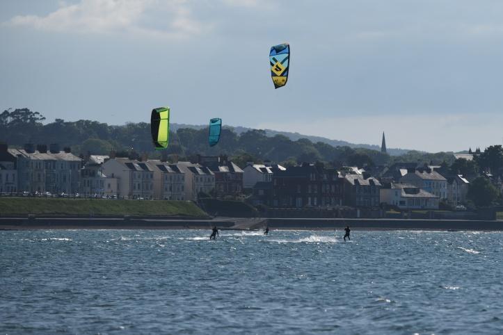 Ballyholme kitesurfers