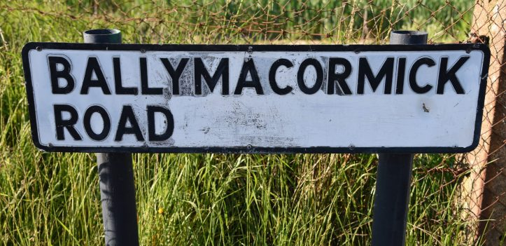 Ballymacormick Road sign