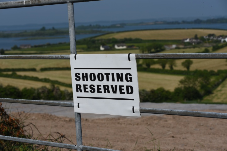 Ballymartin shooting reserved sign