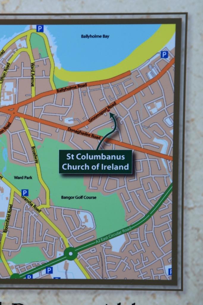 Bangor map St Columbanus