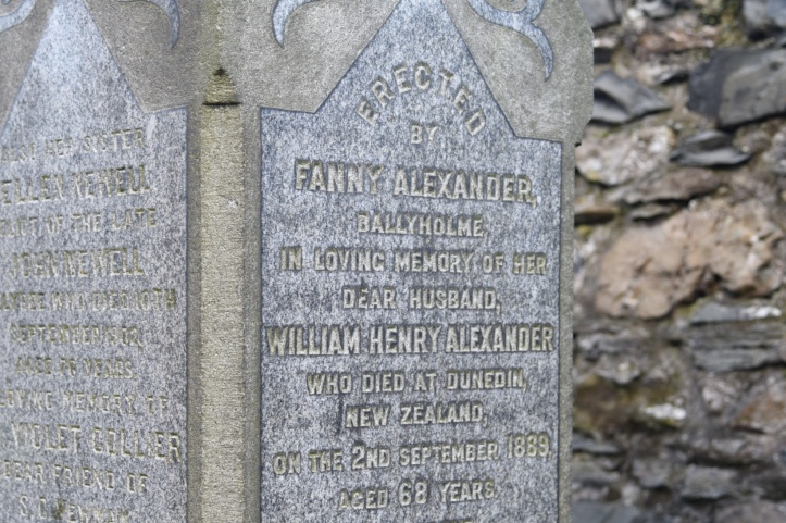 Grave for Alexander family of Ballyholme in Bangor