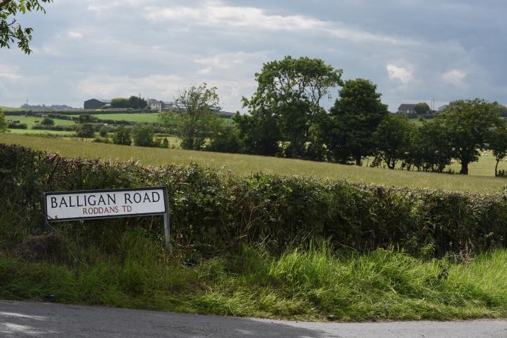 Balligan Road sign in Roddans