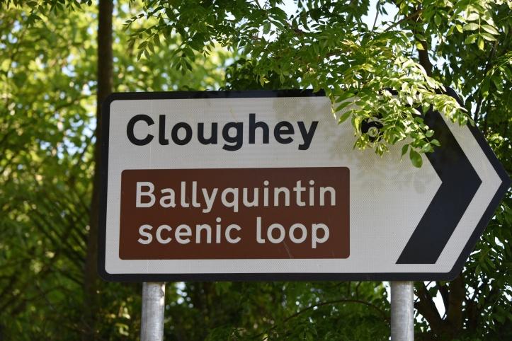 Cloughey Ballyquintin roadsign