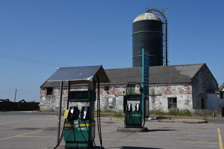 Cloughey filling station and silo