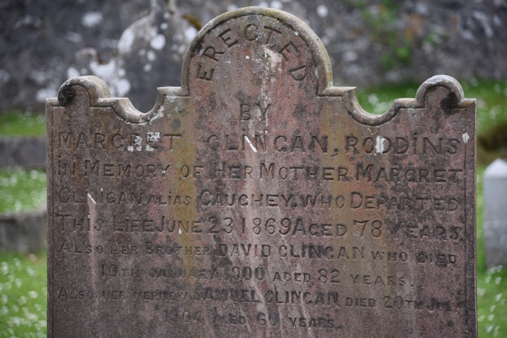 Gravestone for Clingan of Roddins in Ballyhalbert