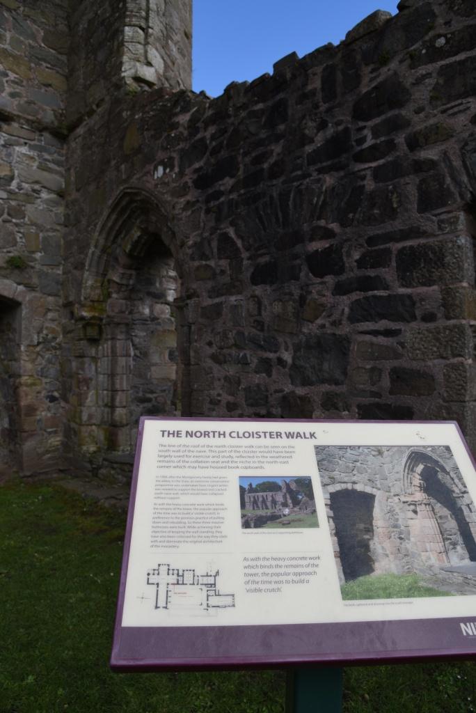 Greyabbey north cloister walk