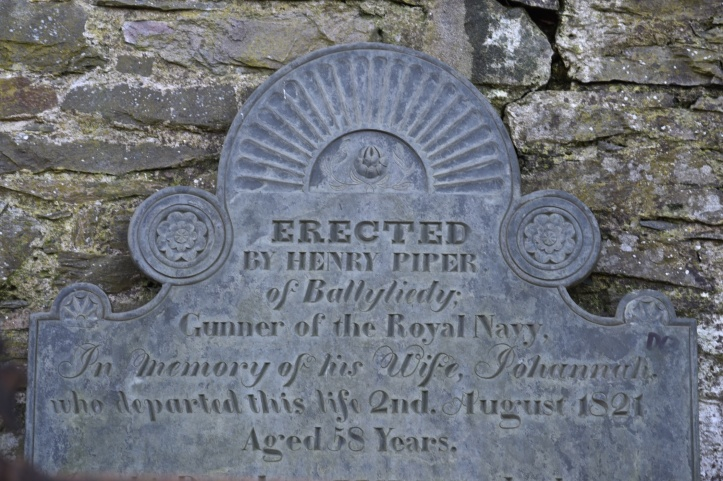Headstone for Piper of Ballyleidy in Bangor (1)