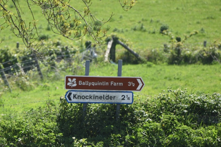 Knockinelder road signs
