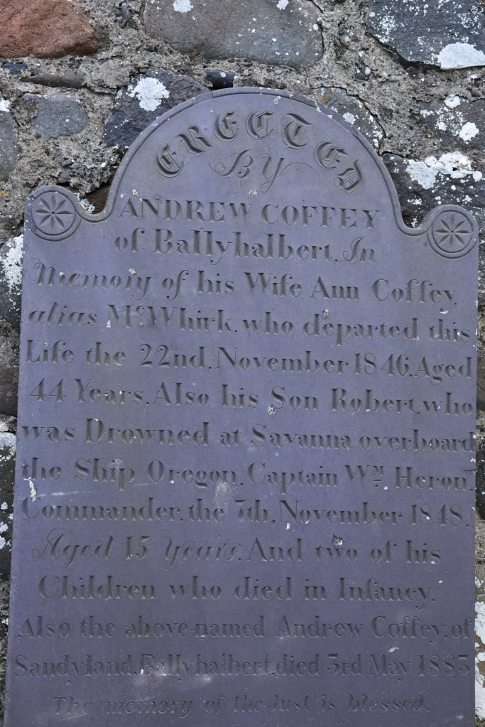 gravestone-for-coffey-of-ballyhalbert
