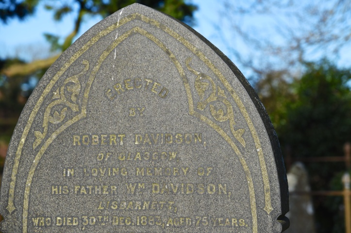 gravestone-for-davidson-of-lisbarnett-in-tullynakill
