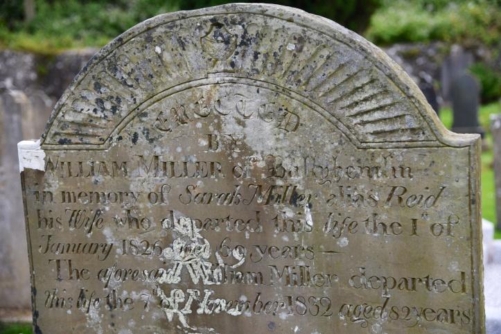 gravestone-for-miller-of-ballyhemlin-in-ballyhalbert-1826
