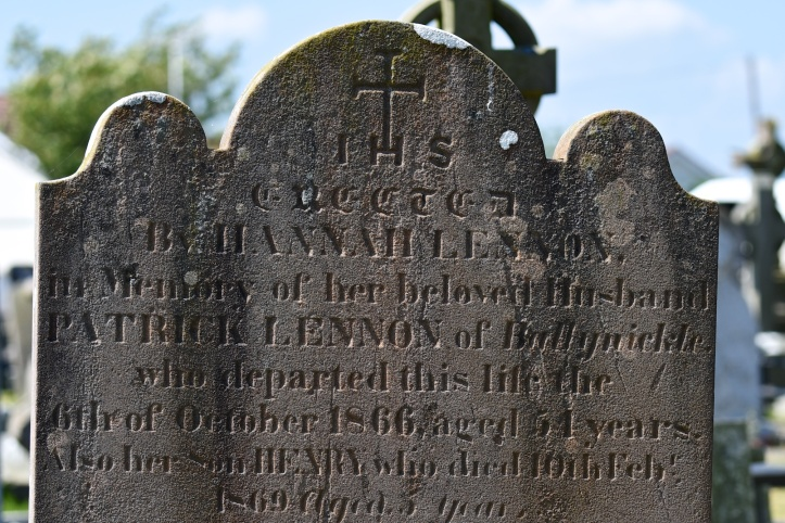 gravestone-for-lennon-of-ballynichol-in-portaferry