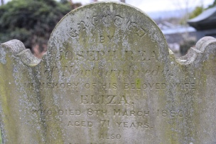Gravestone in Breda for Rea of Newtownbreda