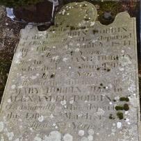 Gravestone in Moneyreagh for Dobbin of Clontonacally
