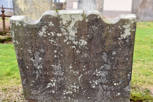 Gravestone in Moneyreagh for Stewart of Crossnacreevy