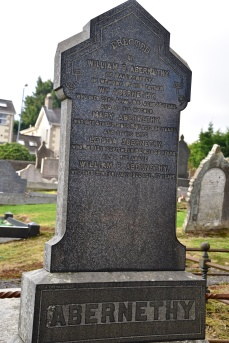 Gravestone in Moneyreagh for Abernethy of Ballycreelly