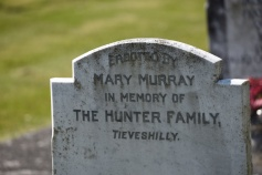 GRAVESTONE IN PORTAFERRY FOR HUNTER OF TIEVESHILLY