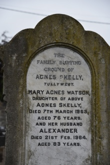 Gravestone for Kelly of Tullywest in Saintfield